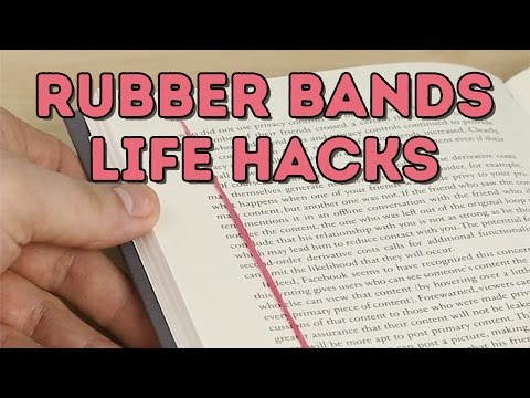 5 AWESOME Life Hacks With Rubber Bands That You Need! L 5-MINUTE CRAFTS