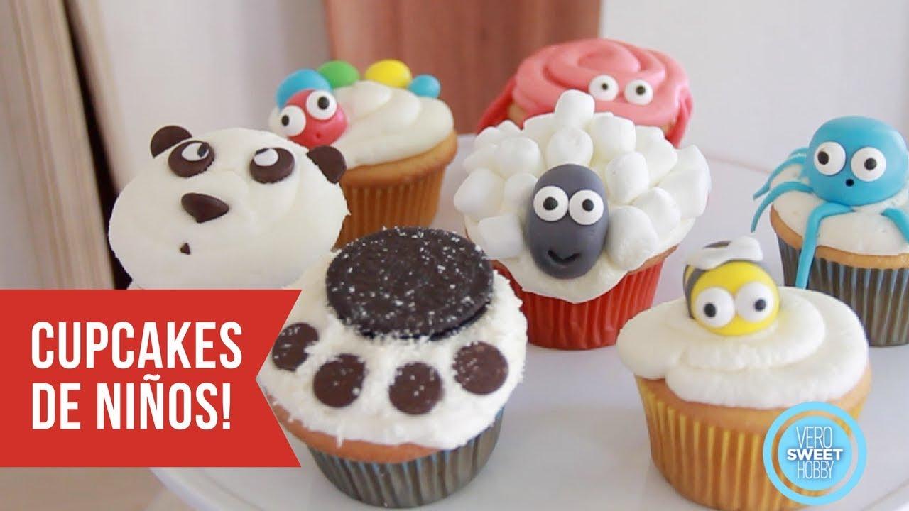 Aprende A Hacer Cupcakes Bellisimos Para Niños Y Muy Faciles Con Verosweethobby