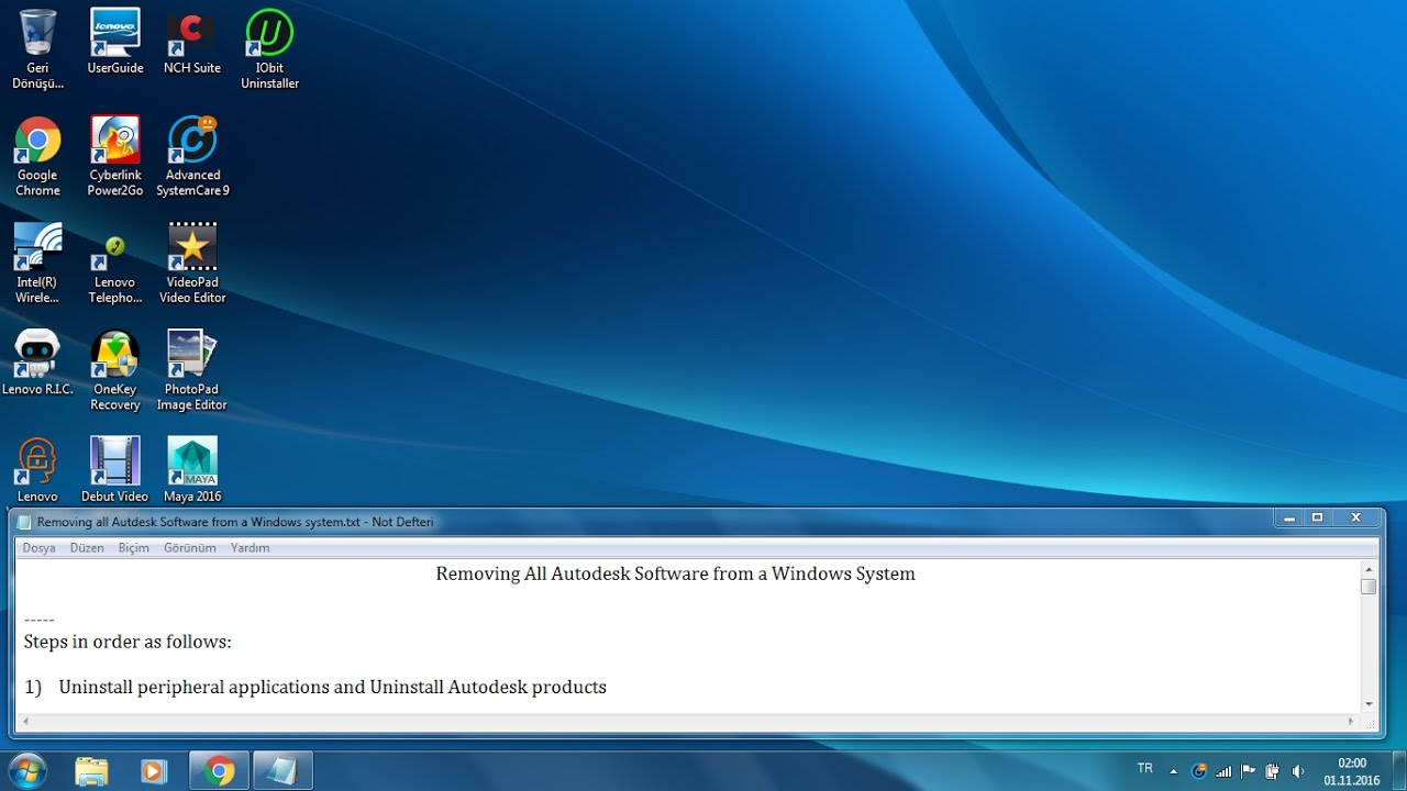 Removing all Autodesk software from a Windows system (detailed)