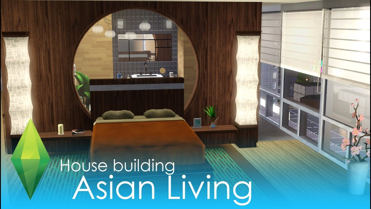 the sims 3 house building - asian living (apartment) - youtube