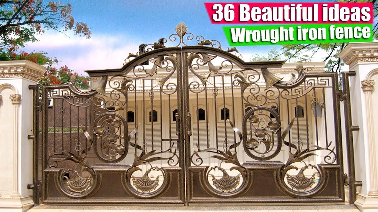 36 Sample Model Wrought Iron Fence Classic Home YouTube