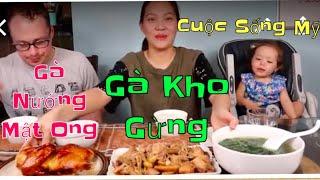 Vlog 616 ll Chuyện Hiếm Có Ngọc Xuống Bếp Làm Gà Kho Gừng, Gà Nướng Mật Ong Và Canh Mồng Tơi