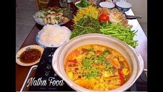 Lẩu thái, tự nấu lẩu không cần gói gia vị lẩu mà ngon quá xá ||Thai style hot pot  || Natha Food