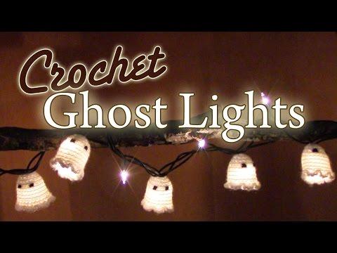 DIY Crochet Halloween Ghost Lights
