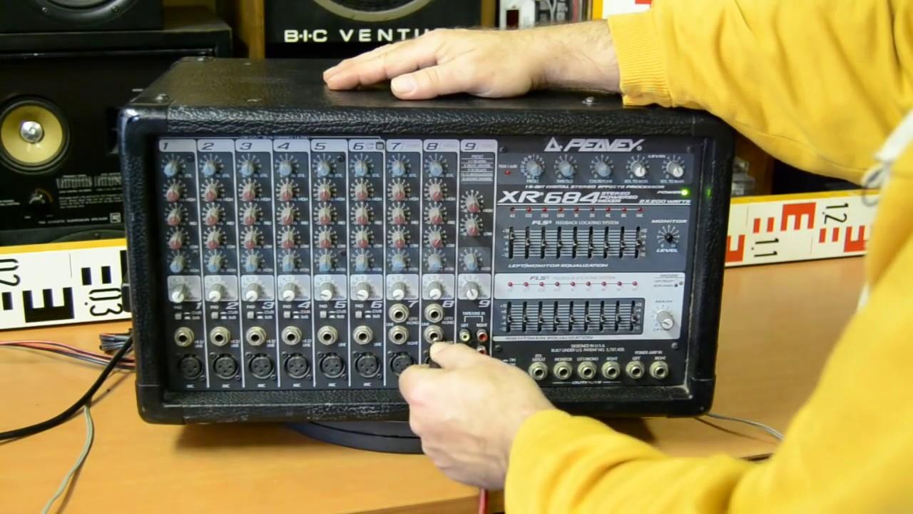 Peavey XR684 Stereo Powered Mixer - Amplifier - Verstärker - Top 5 Powermix