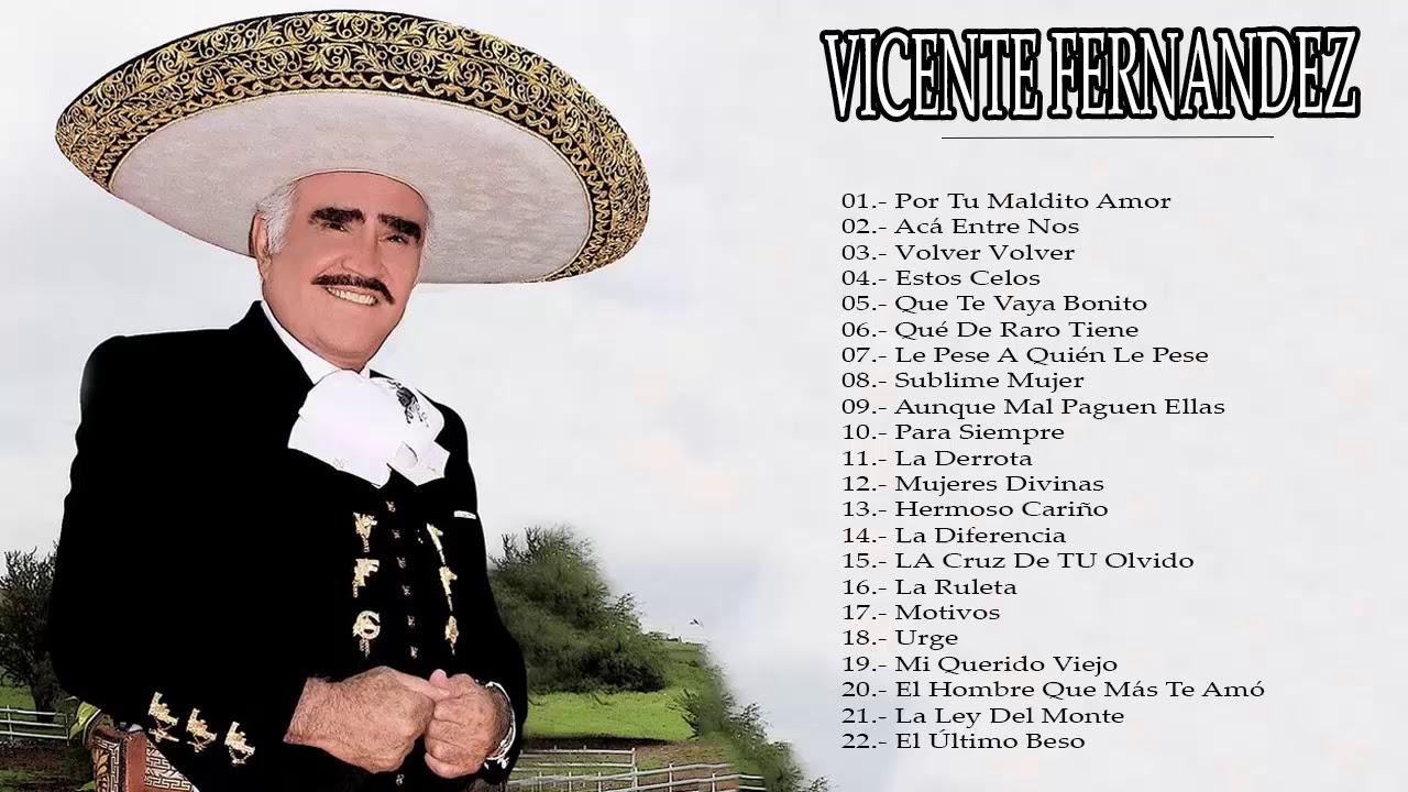 Vicente Fernandez Sus Mejores Canciones Grandes Exitos 2018 Youtube