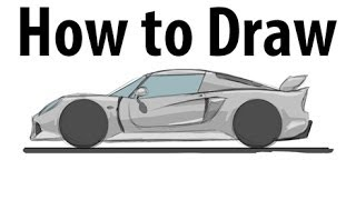 How to draw a Lotus Exige - Sketch it quick!