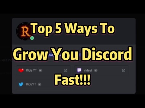 Top 5 Ways To Grow Your Discord!