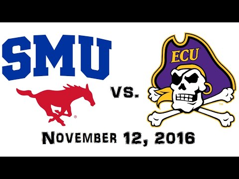 November 12, 2016 - SMU Mustangs vs. East Carolina Pirates Full Football Game 60fps