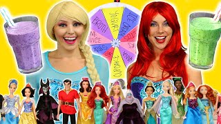 ELSA AND ARIEL'S SMOOTHIE CHALLENGE (Which Disney Characters Have Good or Bad Ingredients?)