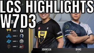 LCS Highlights ALL GAMES Week 7 Day 3 Summer 2020 League Championship Series