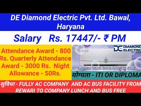 DE Diamond Electric Pvt. Ltd. Bawa Haryana salary 18447 rupaye per month
