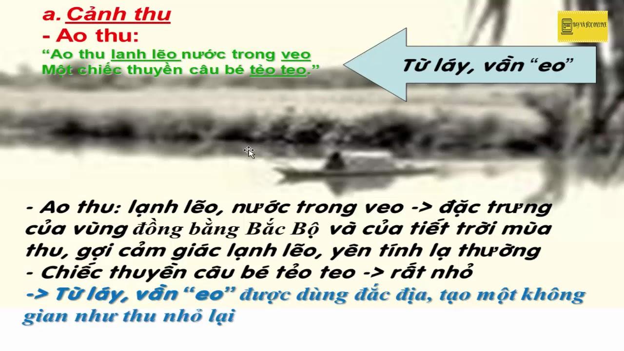 Câu cá mùa thu (Nguyễn Khuyến)
