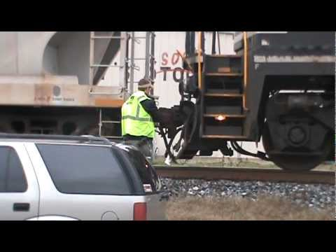 NS 16T coupling to its train 1-12-12