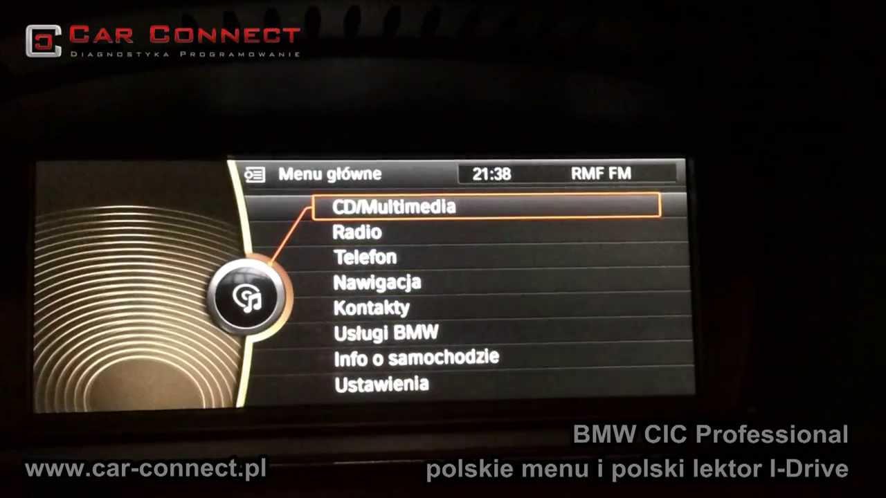 medium resolution of bmw cic professional j zyk polski menu e60 e90 e70 e87 f01 f10 f30