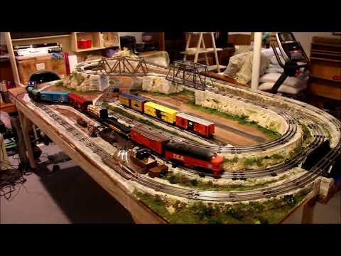 Frank's small 027 scale layout for O scale train 2018