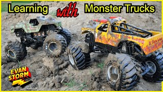 Learning with Monster Trucks El Toro Loco Teaches Hand Washing with Soldier of Fortune