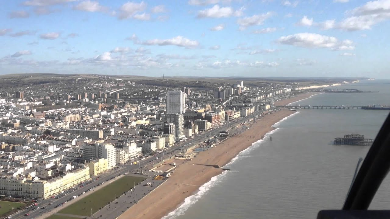 Flying over Brighton with Phoenix Helicopters - YouTube