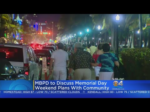 Miami Beach PD Hold Meeting On Memorial Day Weekend