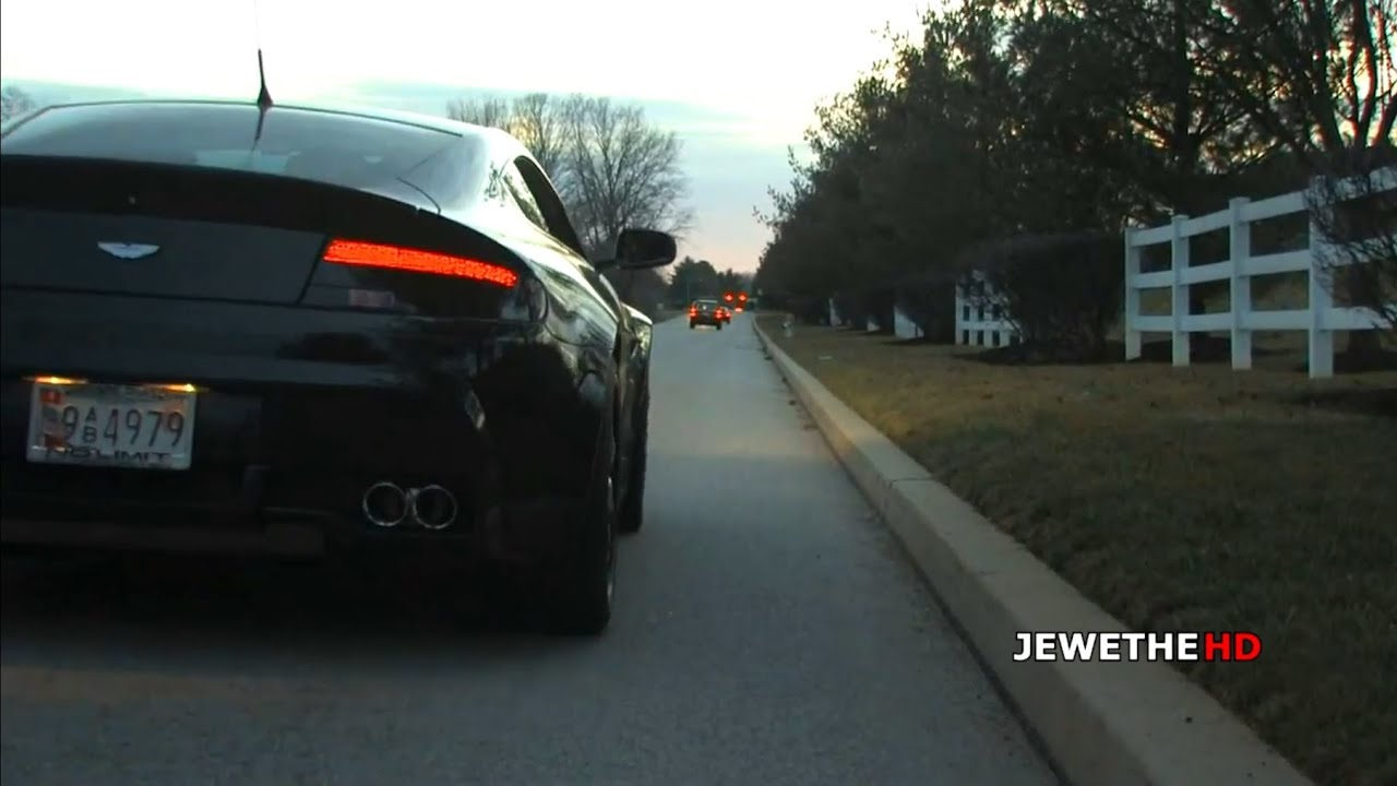 LOUD Aston Martin V8 Vantage w/ High-Flow Sportcats and X-Pipe! SOUNDS!
