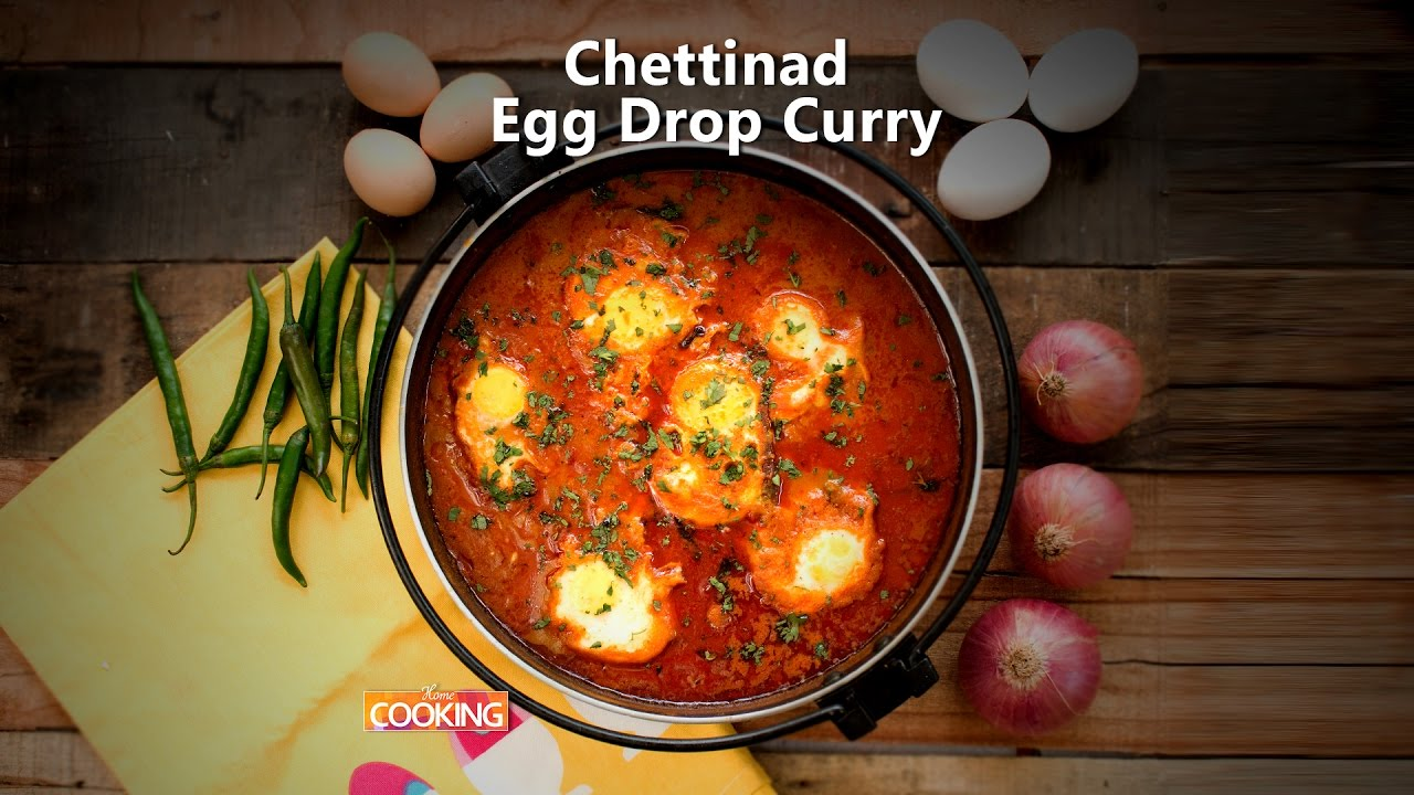 Chettinad Egg Drop Curry Ventuno Home Cooking Youtube
