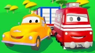 Troy the Train and Tom the Tow Truck in Car City | Trains & Trucks cartoons for kids