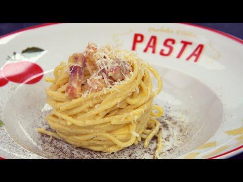 Espaguetis a la carbonara como un auténtico italiano - Receta original