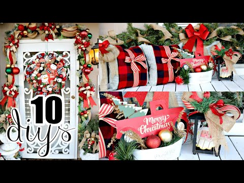 "🎄10 DIY DOLLAR TREE CHRISTMAS DECOR CRAFTS 2019🎄""I Love Christmas"" ep24 Olivia's Romantic Home DIY"