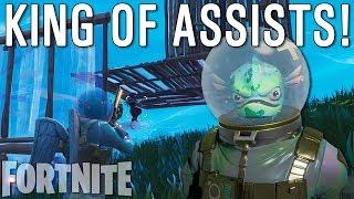 KING OF ASSISTS! | Fortnite Battle Royale Squads w/ Rhymestyle, Nanogenix & Songha