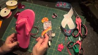 How to decorate flip flops.