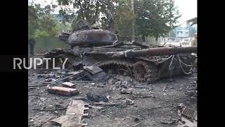 South Ossetia: Archive footage shows destruction of 2008 war