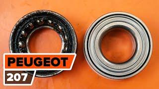PEUGEOT 207 (WA_, WC_) Kerékcsapágy készlet beszerelése: ingyenes videó
