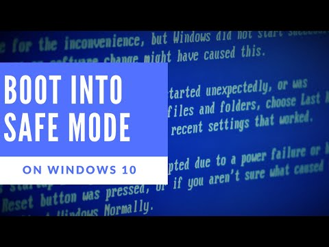 how to boot up in safe mode windows 10