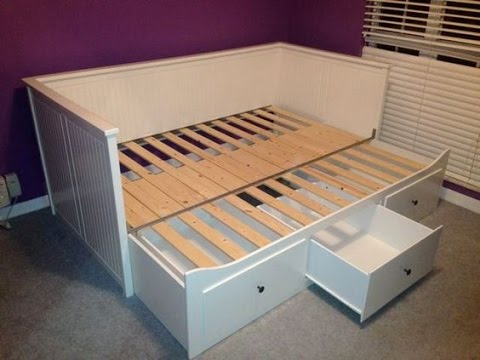 trundle bed frame ikea youtube. Black Bedroom Furniture Sets. Home Design Ideas
