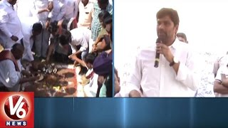 MP Balka Suman Laid Foundation Stone For Godavarikhani Press Club New Building | V6 News