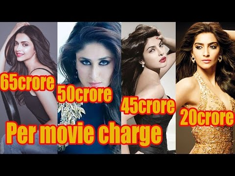TOP 10 Bollywood actress charges per movie 2016 | Part2