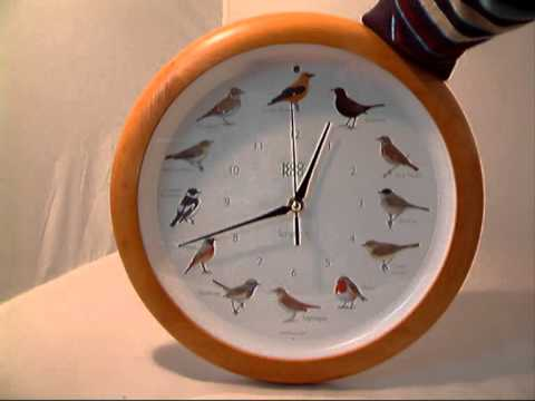 Wooden Birdsong Clock
