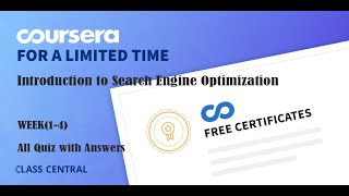 Introduction to Search Engine Optimization ,week(1-4) All Quiz with Answers.