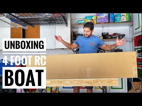 UNBOXING 4 Foot Gas RC BOAT! - COPPA / FTC / This Channel - Smith RC Studios