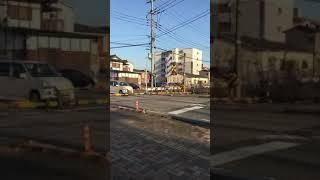 JR後藤寺線 キハ40系 支線旧芳雄通り踏切通過