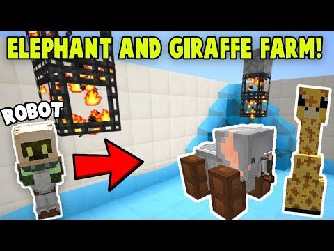 AUTO Elephant and Giraffe SPAWNER FARM! | Minecraft Skyblock