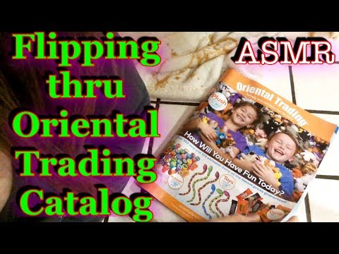 ASMR Flipping thru Oriental Trading Co Catalog, Relaxing, gentle whispering