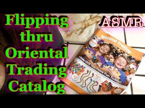 ASMR Flipping thru Oriental Trading Co Catalog, Relaxing, gentle whispering
