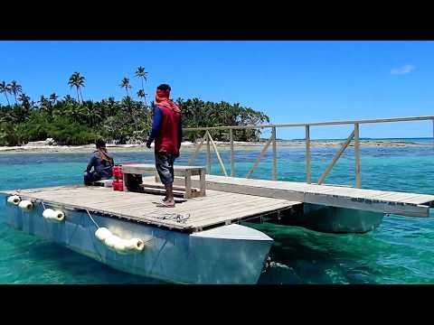 FAFA ISLAND, TONGA from Nuku'Alofa in 4k