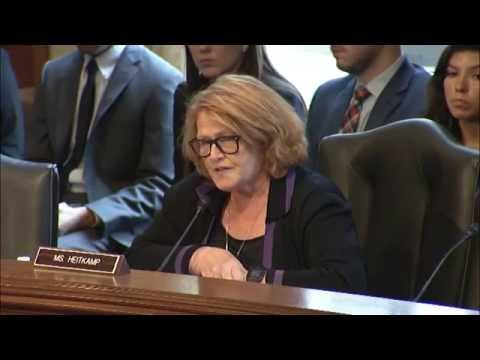 Heitkamp Discusses Substance Abuse in Indian Country during a Senate Committee Hearing