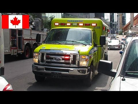 Montréal | SPLL EMS Ambulance 9506 Responding To CHUM Superhospital While  Transferring Patient