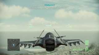 Ace Combat Assault Horizon ASF-X Gameplay