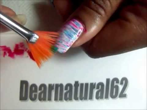 Nail Art W Fan Brush Dearnatural62