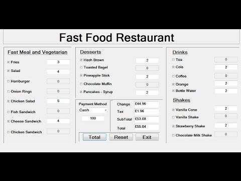How to Create a Fast Food Restaurant Systems in Visual Basic.Net - Full Tutorial