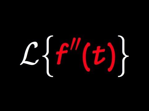 Laplace Transform of second derivative, laplace transform of f''(t)